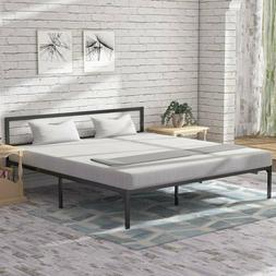 king size platform bed frame headboard mattress