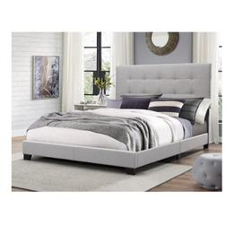 Platform Bed Frames Multi Size Upholstered Headboard Tufted