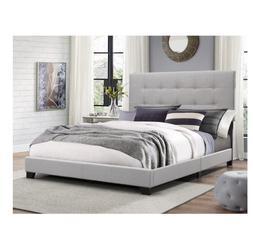 Platform Bed Frames Multi Size Upholstered Headboard Tufted