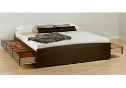 King Storage Bed Frame Platform Wood King Size Beds With 6 D