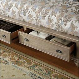 Beaumont Lane Queen Upholstered Storage Sleigh Bed in Driftw