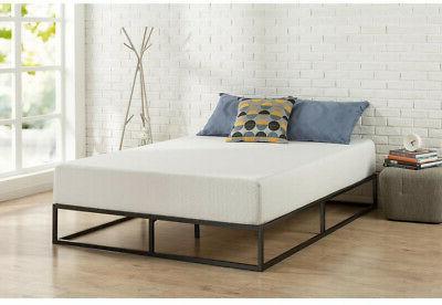 10 in platform bed frame steel low