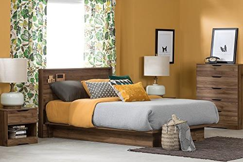 South 11293 Platform Bed Full/Queen,