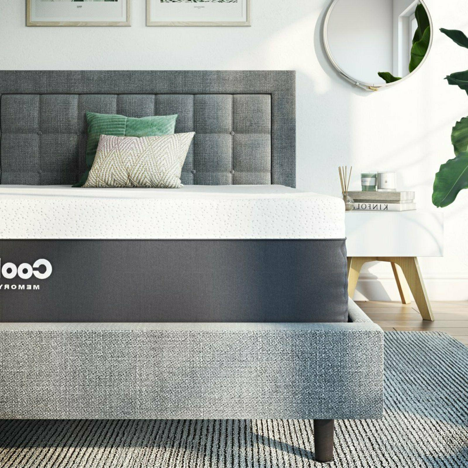 12 inch Cool Gel Memory Foam Plush Mattress Medium Firm Bed