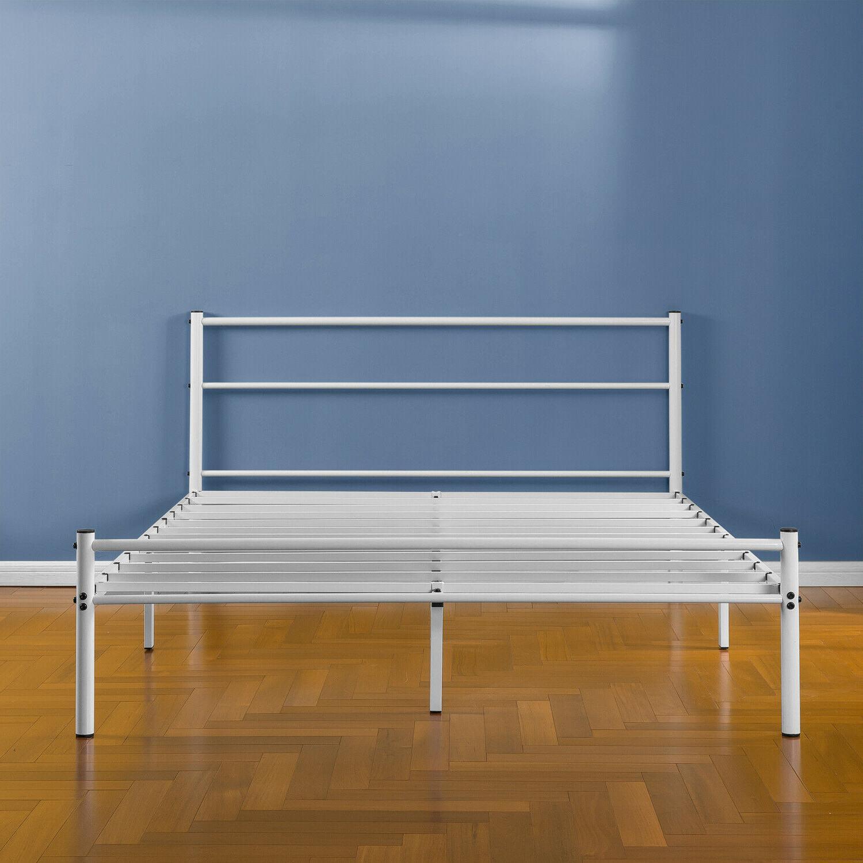 """Zinus Geraldine 12"""" Platform Bed Headboard Footboard, Queen"""