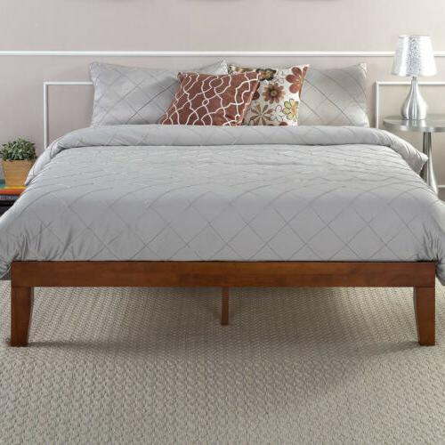 12 wood platform bed frame queen size
