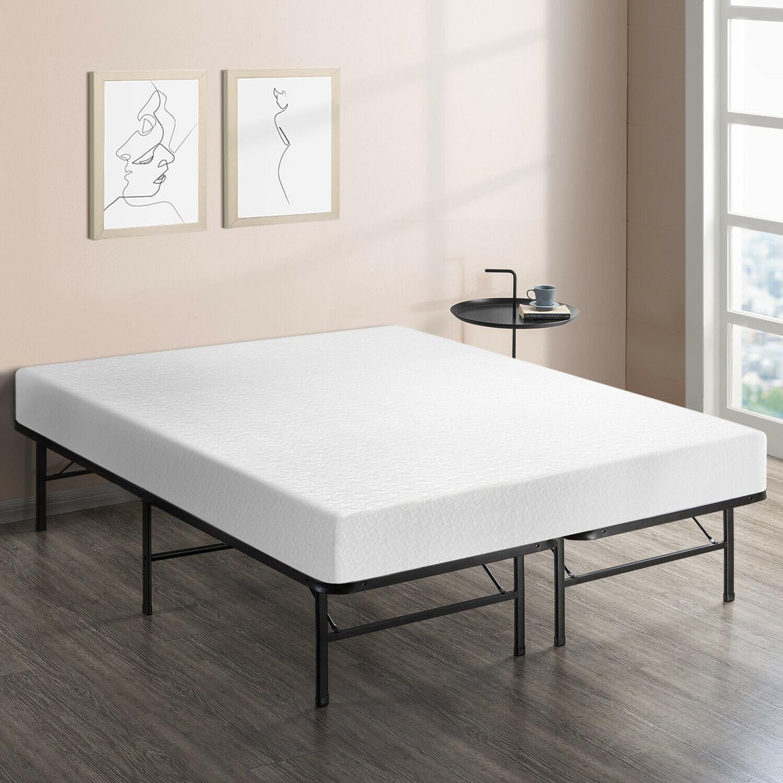 14'' Easy Setup Bi-Fold Metal Bed Under bed Foundation
