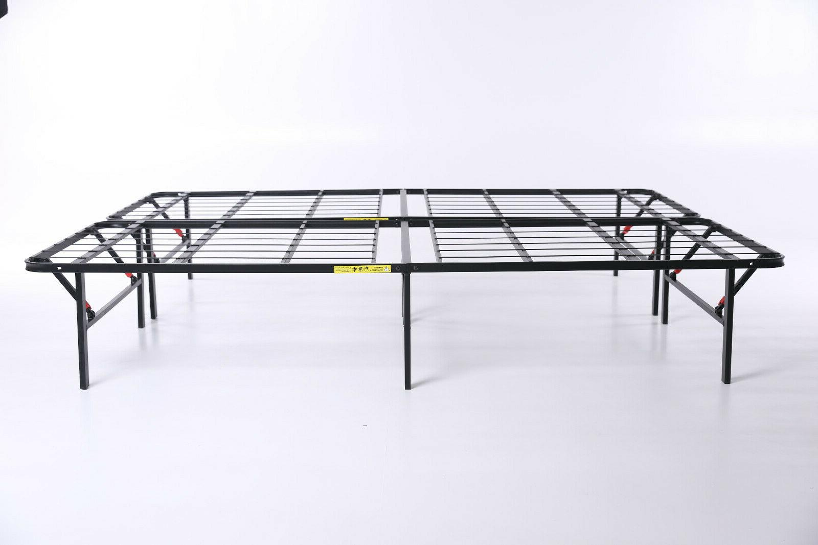 """14"""" High Profile Foldable Metal Bed Queen Mattress"""