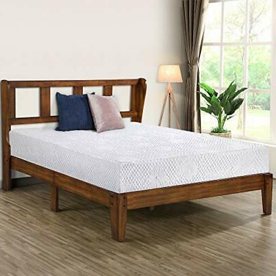 14 inch deluxe platform headboardwood bed frame