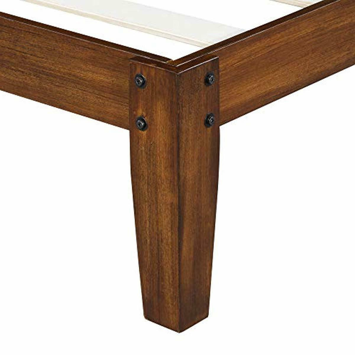 Olee Inch Deluxe Platform with Headboard,Wood Bed Frame Full O