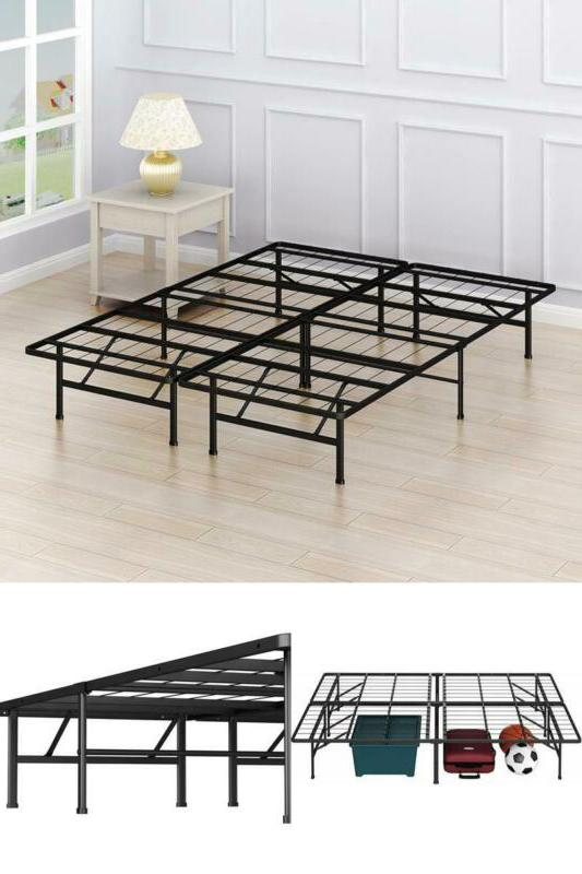 14 inch queen size mattress metal foundation