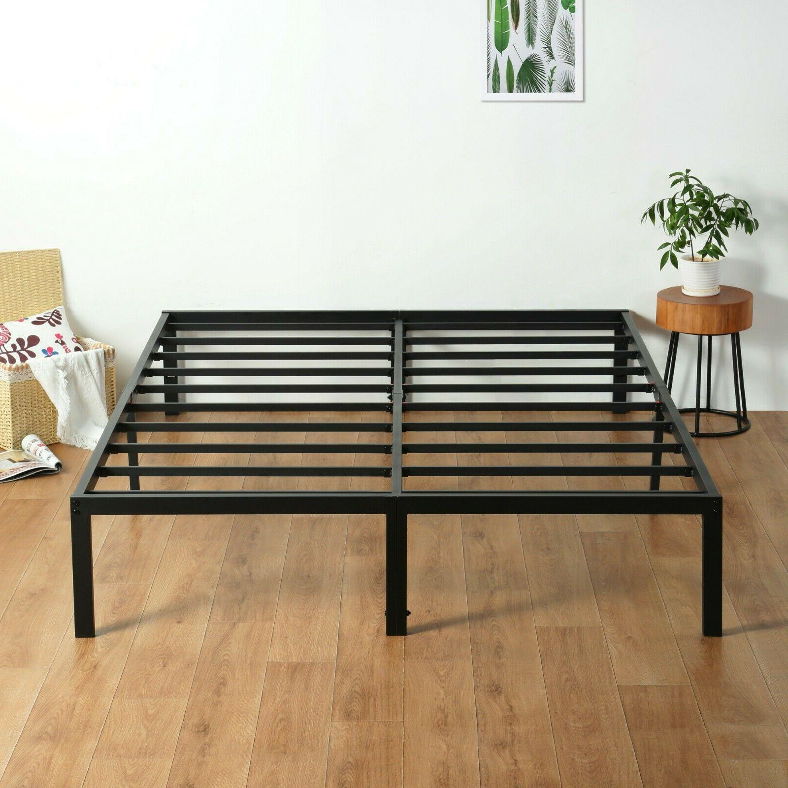 14 inch tall metal frame and slat