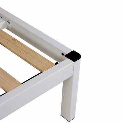 intelliBASE Wood Slat Bed Frame w/ Headboard, Full