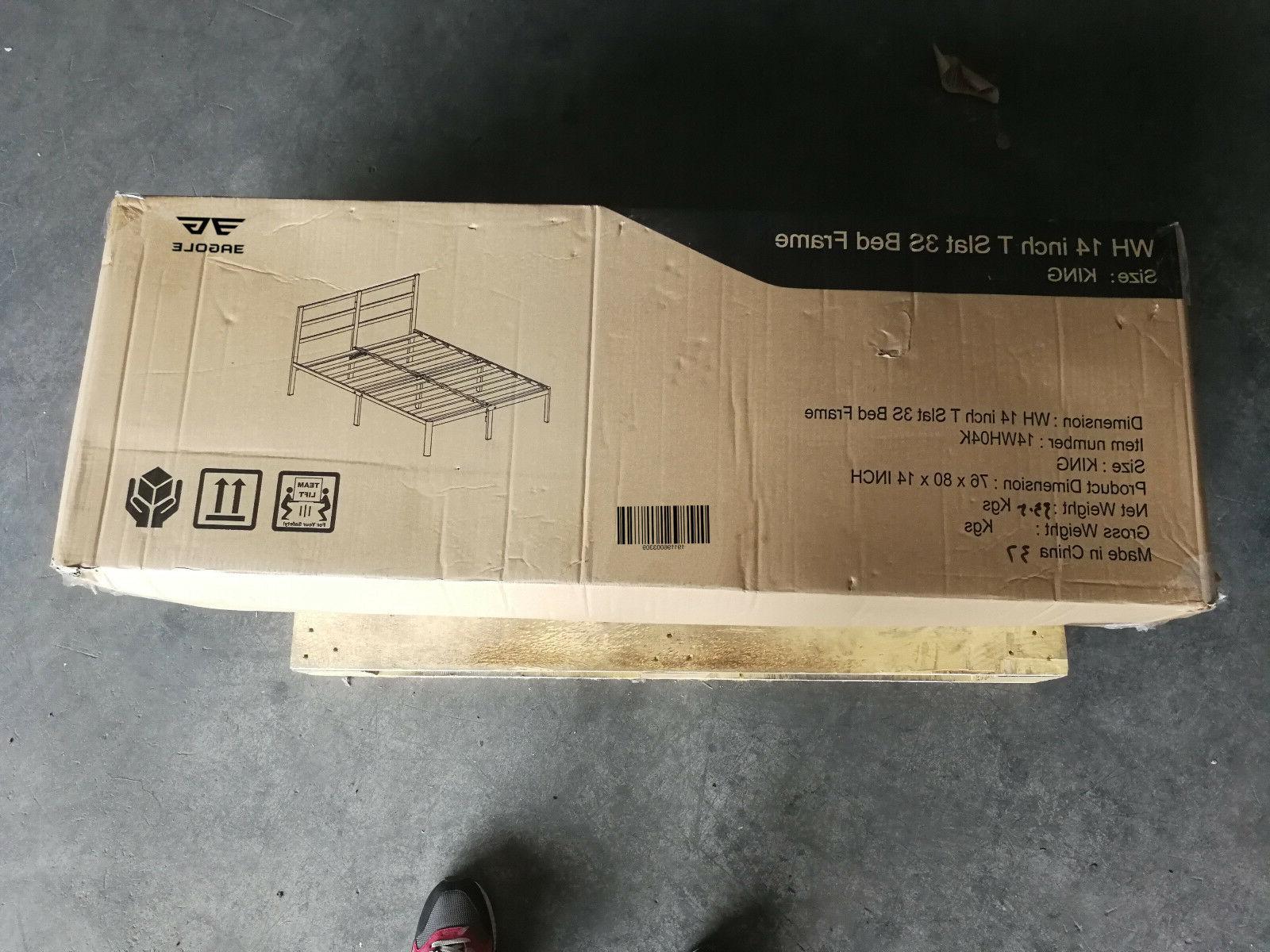 EG Wooden Platform Bed frame, Sturdy. Safe