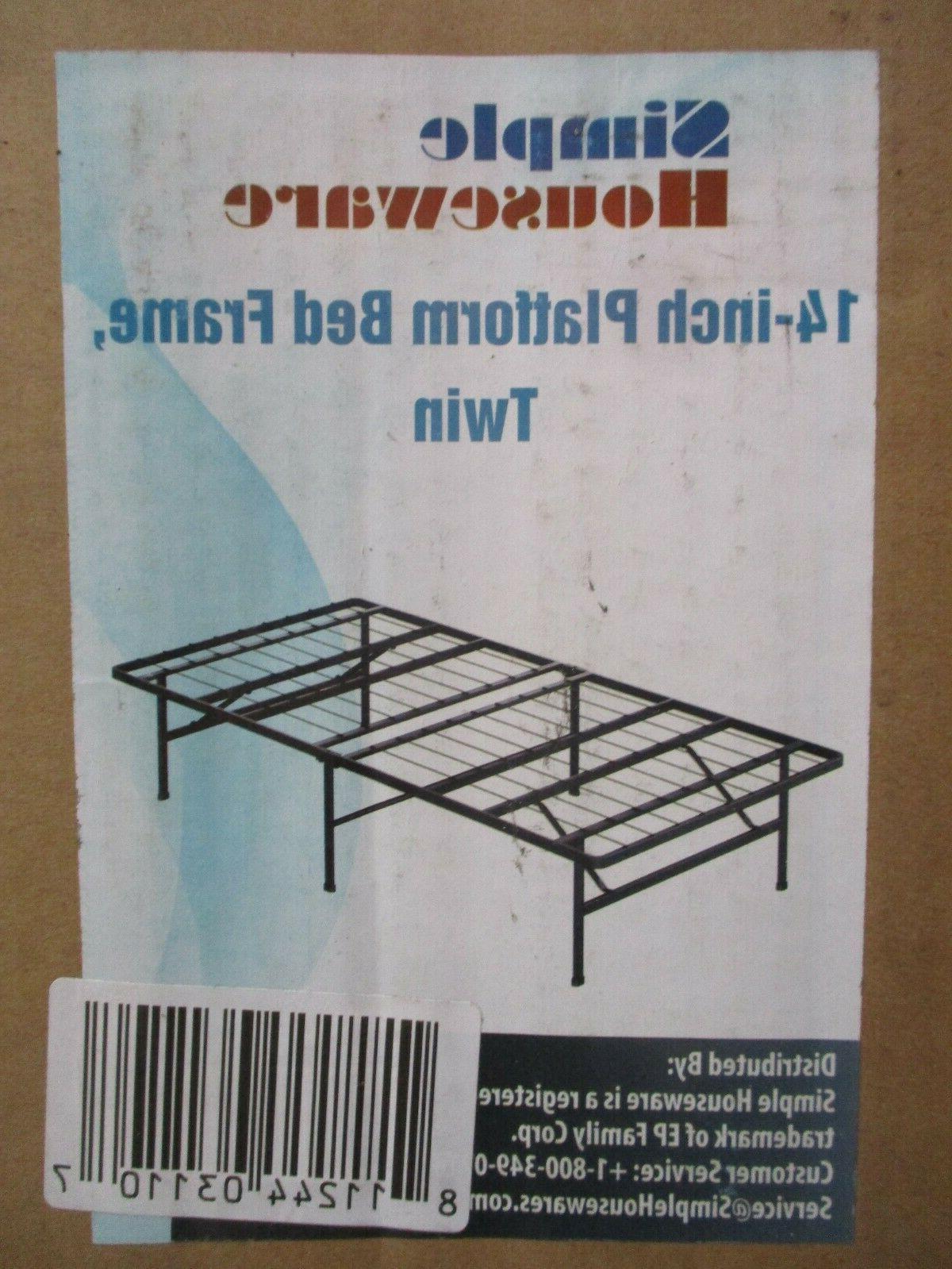 14in twin size mattress foundation platform bed