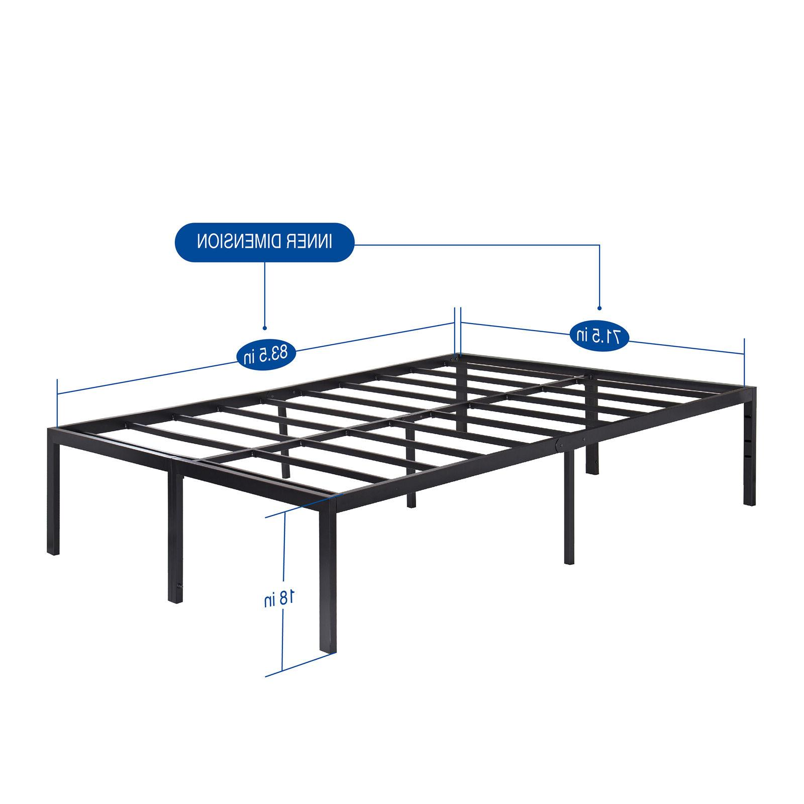 18'' Metal Bed Support King