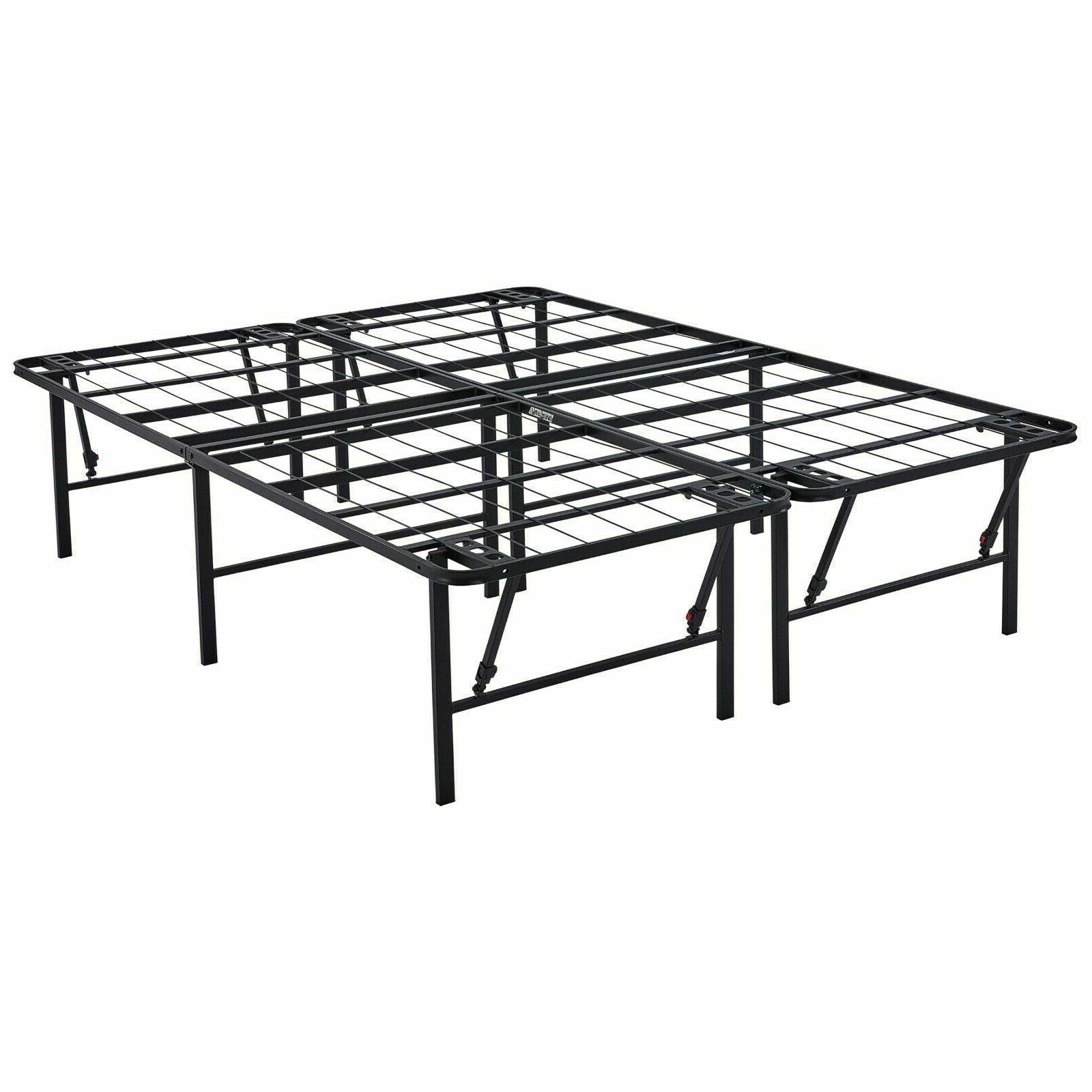 18 Inch Platform Bed Frame High Profile Foldable Mattress St