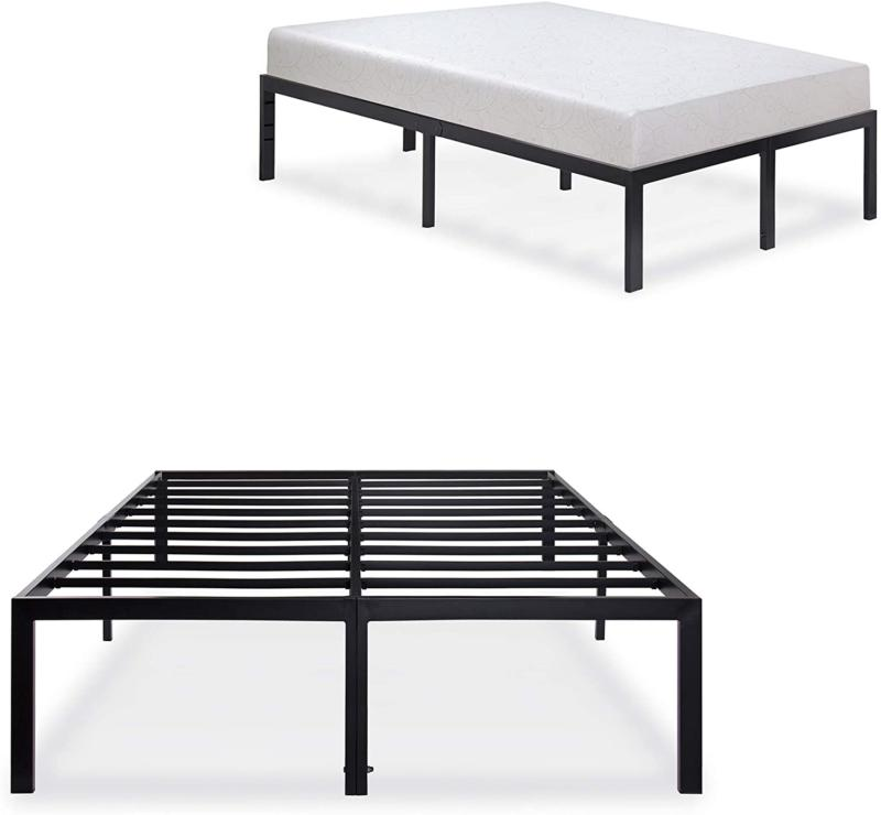 Bed frame Under Storage Steel No Box Spring Needed