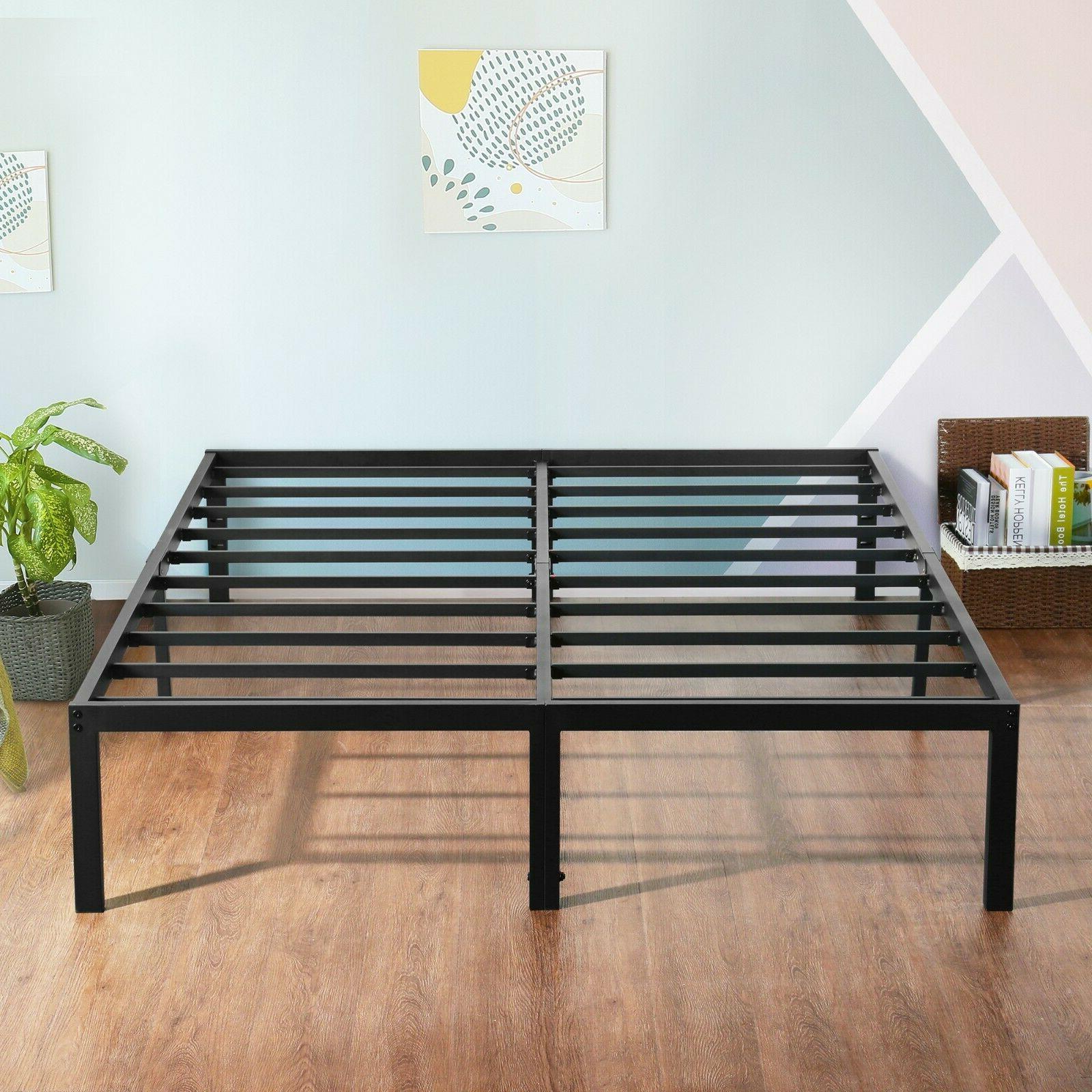 18 tall metal slat platform foundation bed