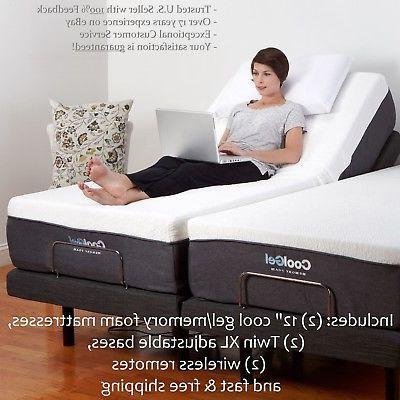 """Adjustable SPLIT Bed Bases 12"""" MATTRESSES Medical"""