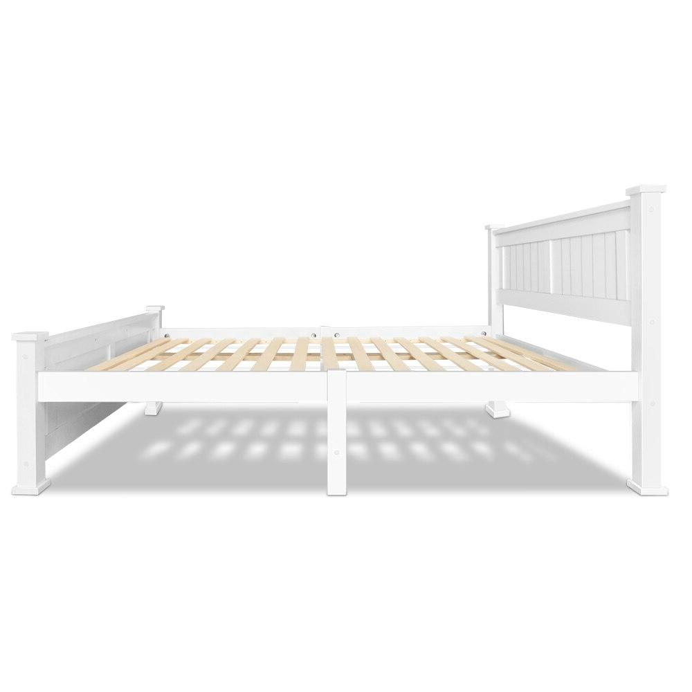 204 149cm Size Wooden <font><b>Bed</b></font> White Smooth <font><b>Bed</b></font> For Adults And Children Comfortable <font><b>Bed</b></font>
