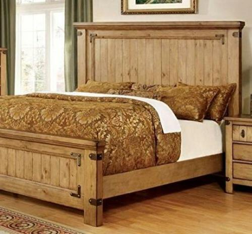 247SHOPATHOME IDF-7449Q Bed-Frames, Queen, Weathered Elm