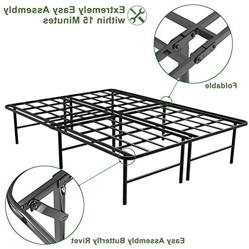 45MinST 16 Tall SmartBase Mattress Foundation/Platform Bed Assembly/Box Spring XL/Full/Queen/King/Cal