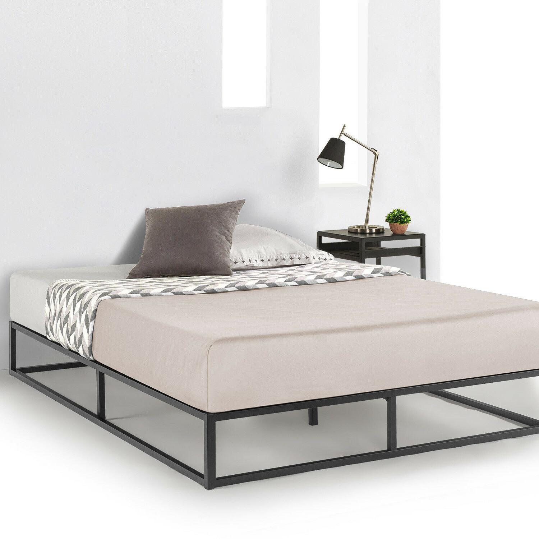 6 10 metal platform bed frame wooden