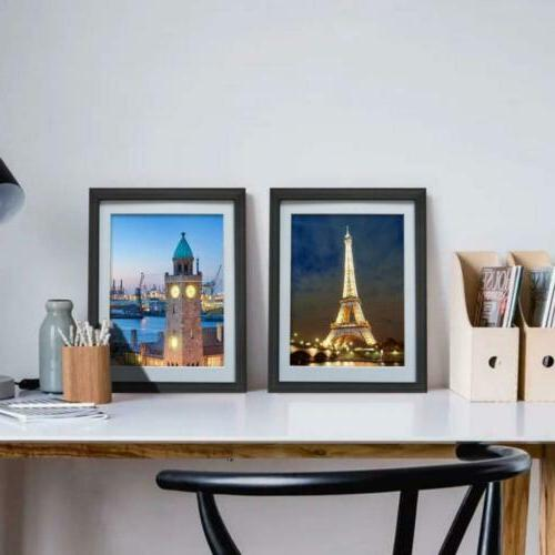 8x10 Black with Mat Wall or Table Top Decoration, Set