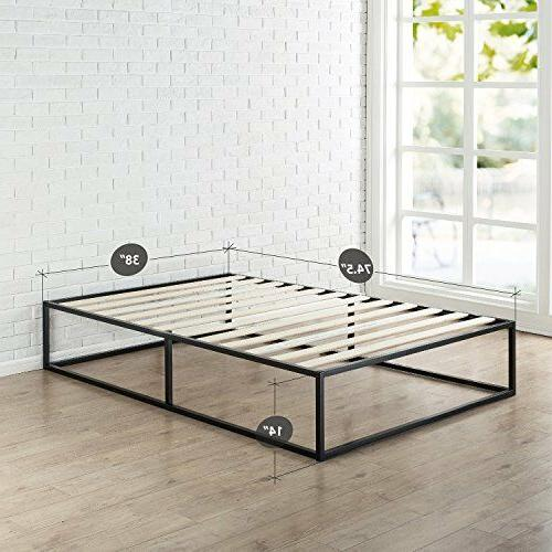 Bed Frame 14 Wood Support Minimal Twin