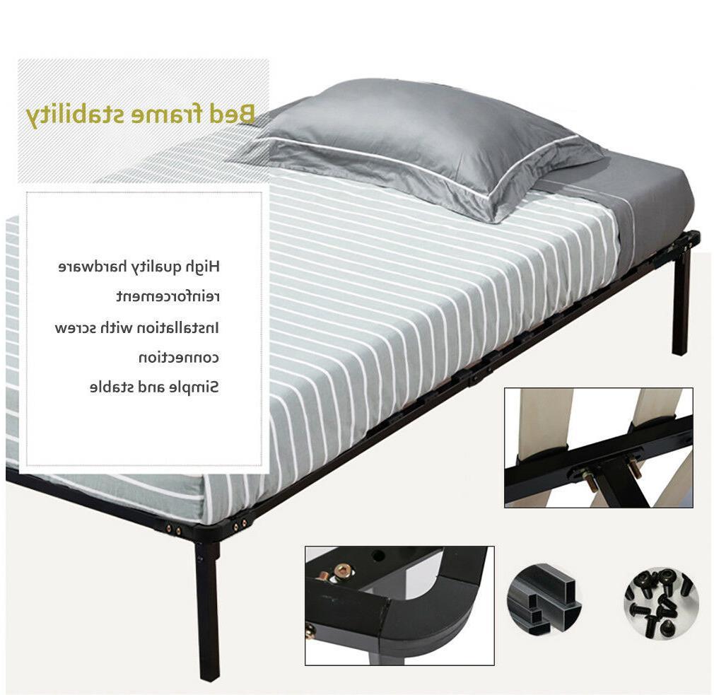 Bed Frame Platform Bed Frame Steel Slat Size Foundation
