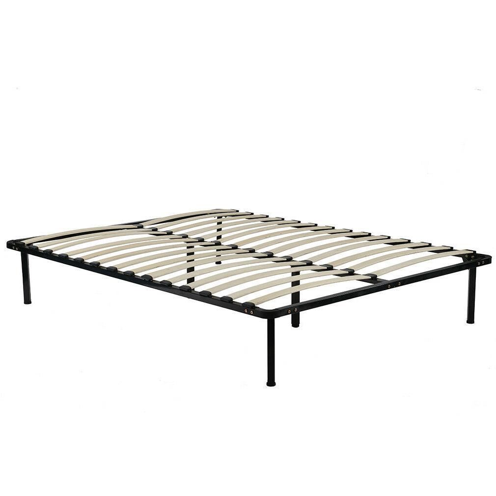 Bed Frame Metal Platform Bed Frame Steel Wood Slat Bed Queen