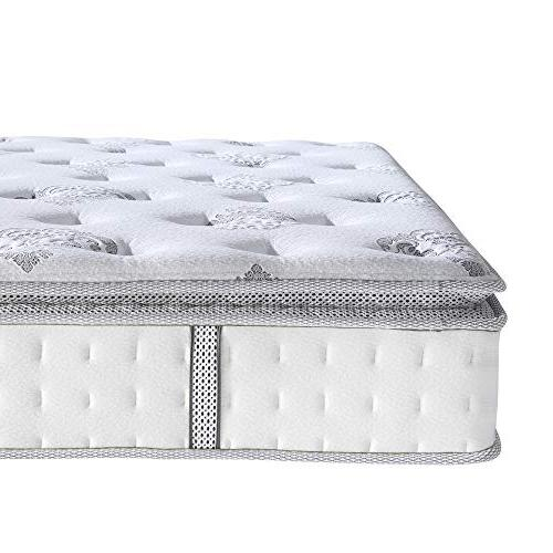"Classic Brands Mercer Foam and Innerspring 12"" Mattress, King,"