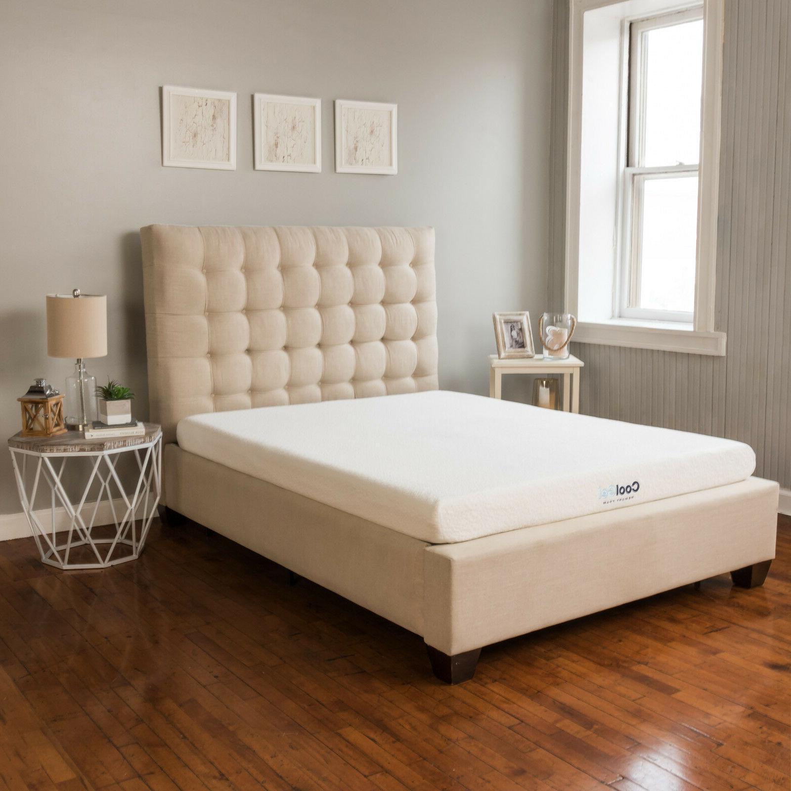 Cool Gel Memory Foam 6 Inch Mattress Bedframe Topper Bed Top