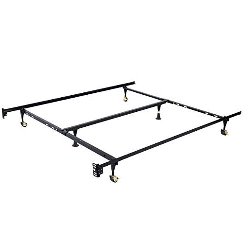 Giantex Metal Bed Frame Adjustable Queen Full Twin Size w/ C