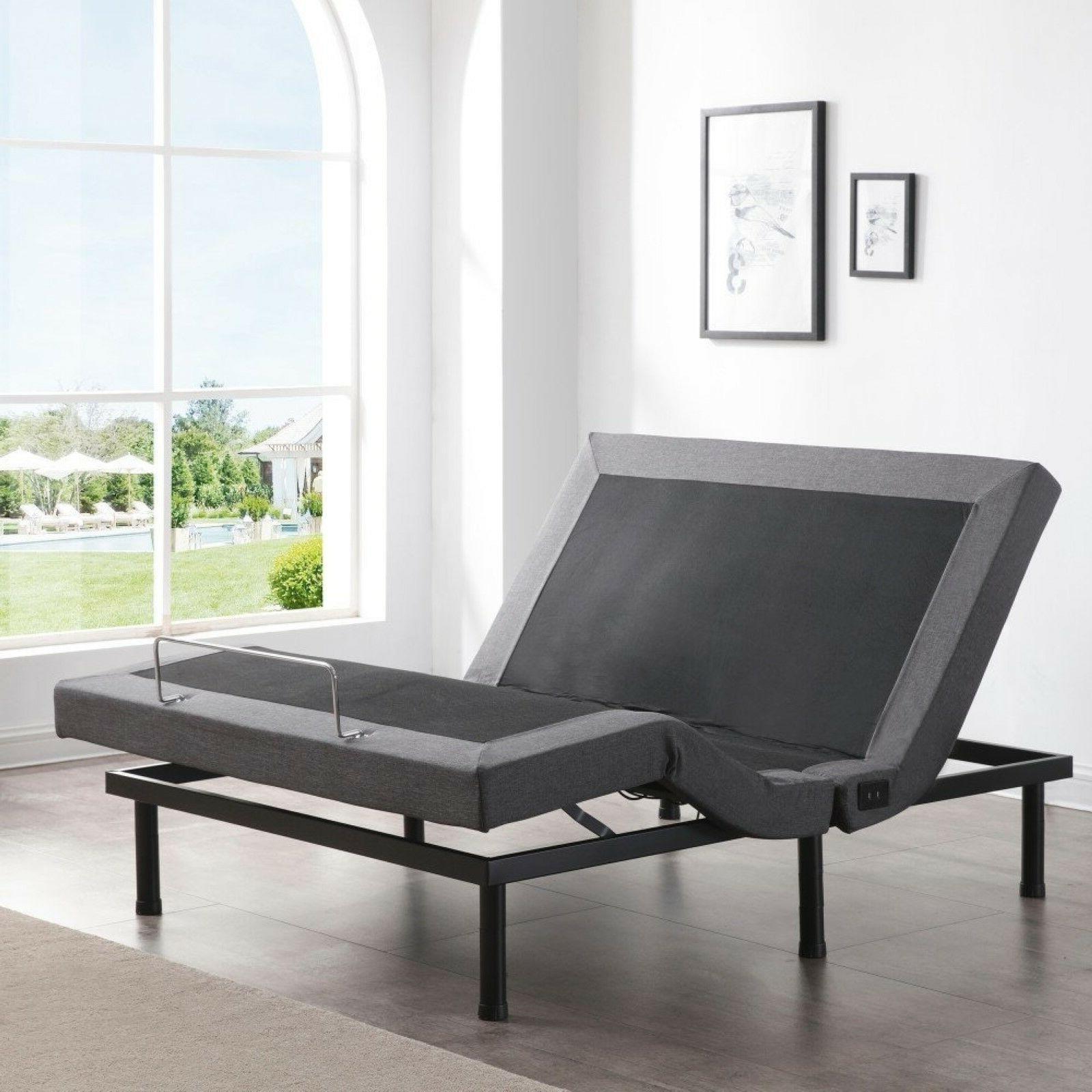 King Size Electric Bed Frame Zero Gravity Massage Remote Pow