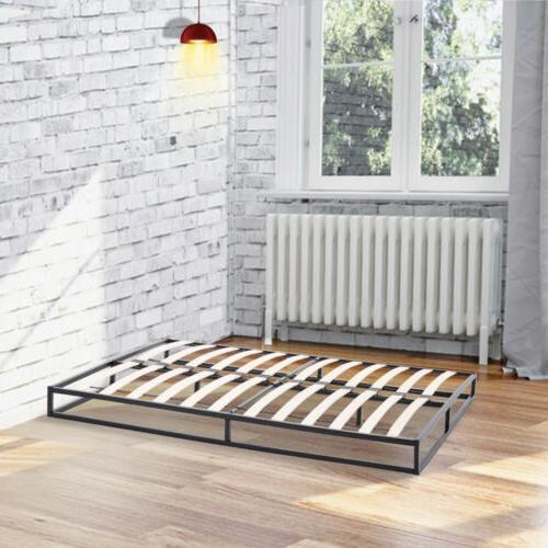 King Size Metal Platform Bed Frame Slats Bedroom