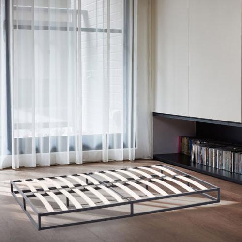 King Size Metal Platform Bed Frame Slats Mattress