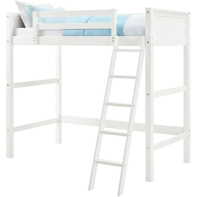 Loft Kids Twin Size Wood Lofted Beds White