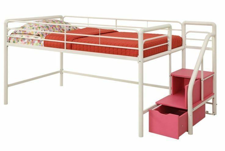Loft Bed Low Bunk Girls Princess Curtain