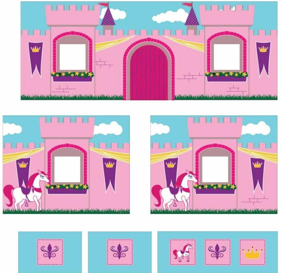 Loft Bed Low Step Bunk Storage Pink Princess Curtain