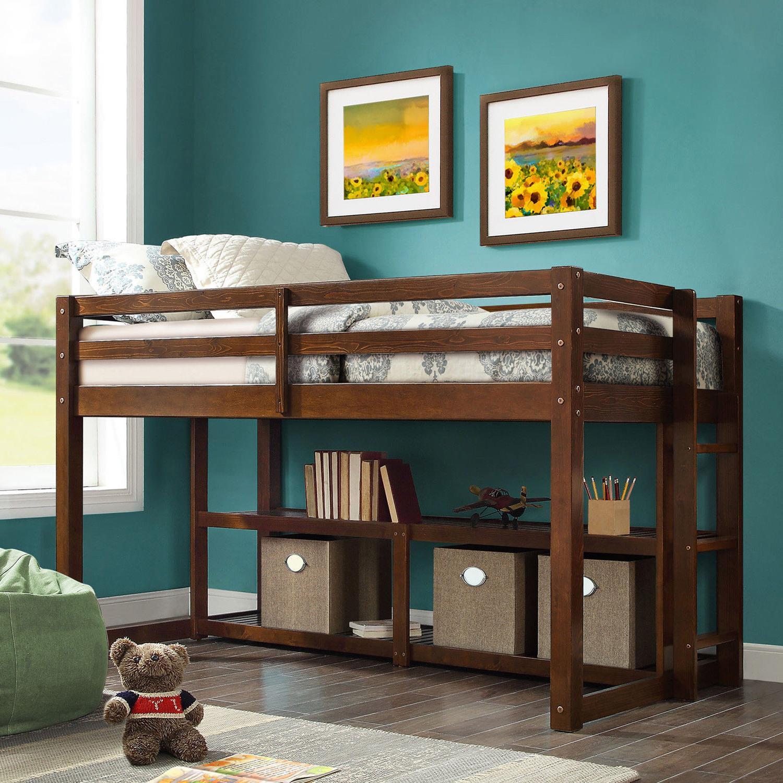Loft Bed Frame Junior Twin Low Kids Jr Wood Wooden Beds Stor