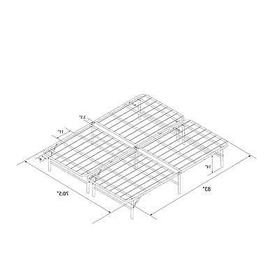 Metal Platform Folding Mattress KING SIZE