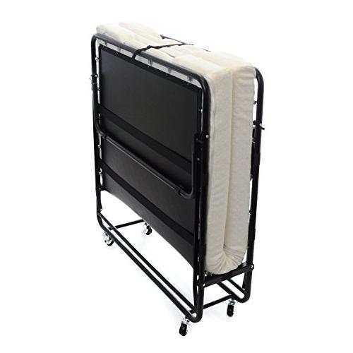 """Milliard Premium Twin Size 75"""" X 38"""" Folding Bed with Luxuri"""