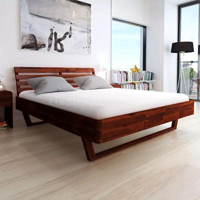 "Modern Bed Frame Solid Acacia Wood King Size 76"" x 80"" Bedro"