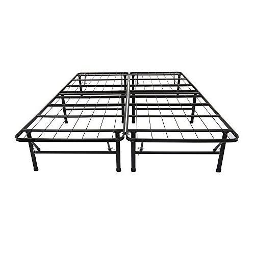 Olee Sleep 14 Inch Metal Platform Foundation Bed Frame 14BF0