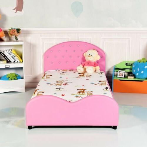 Pink Bed Girls Bedroom Furniture Headboard