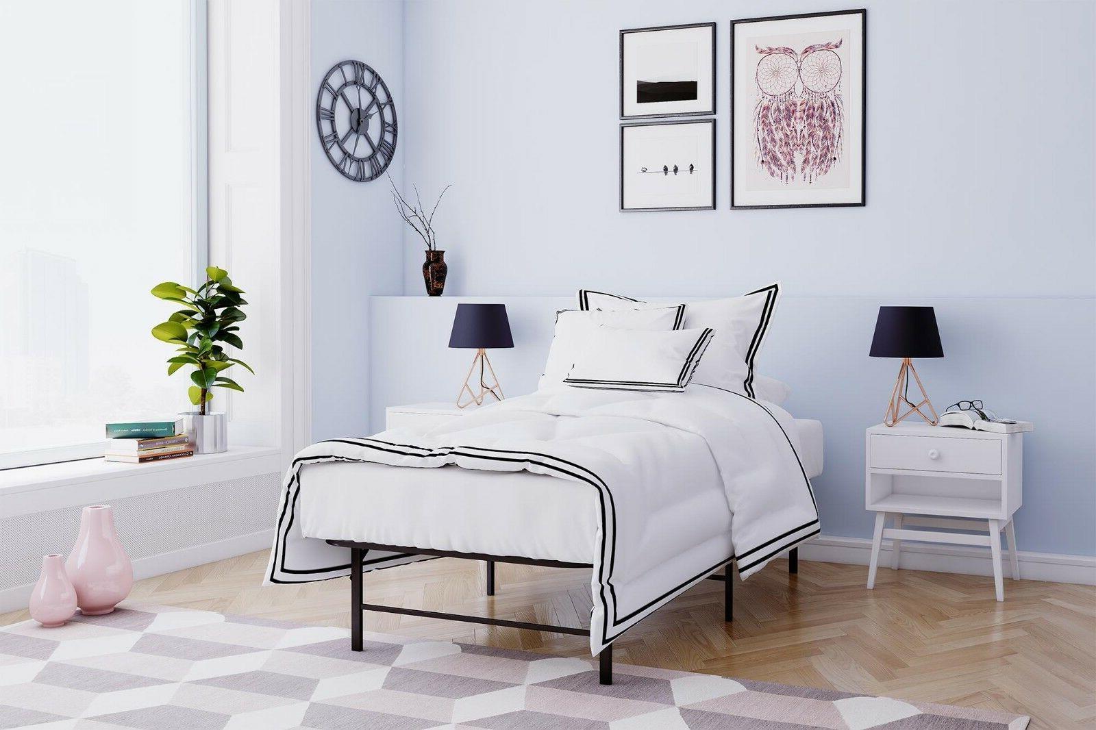 Platform Bed Frame Twin XL Size Mattress Foundati