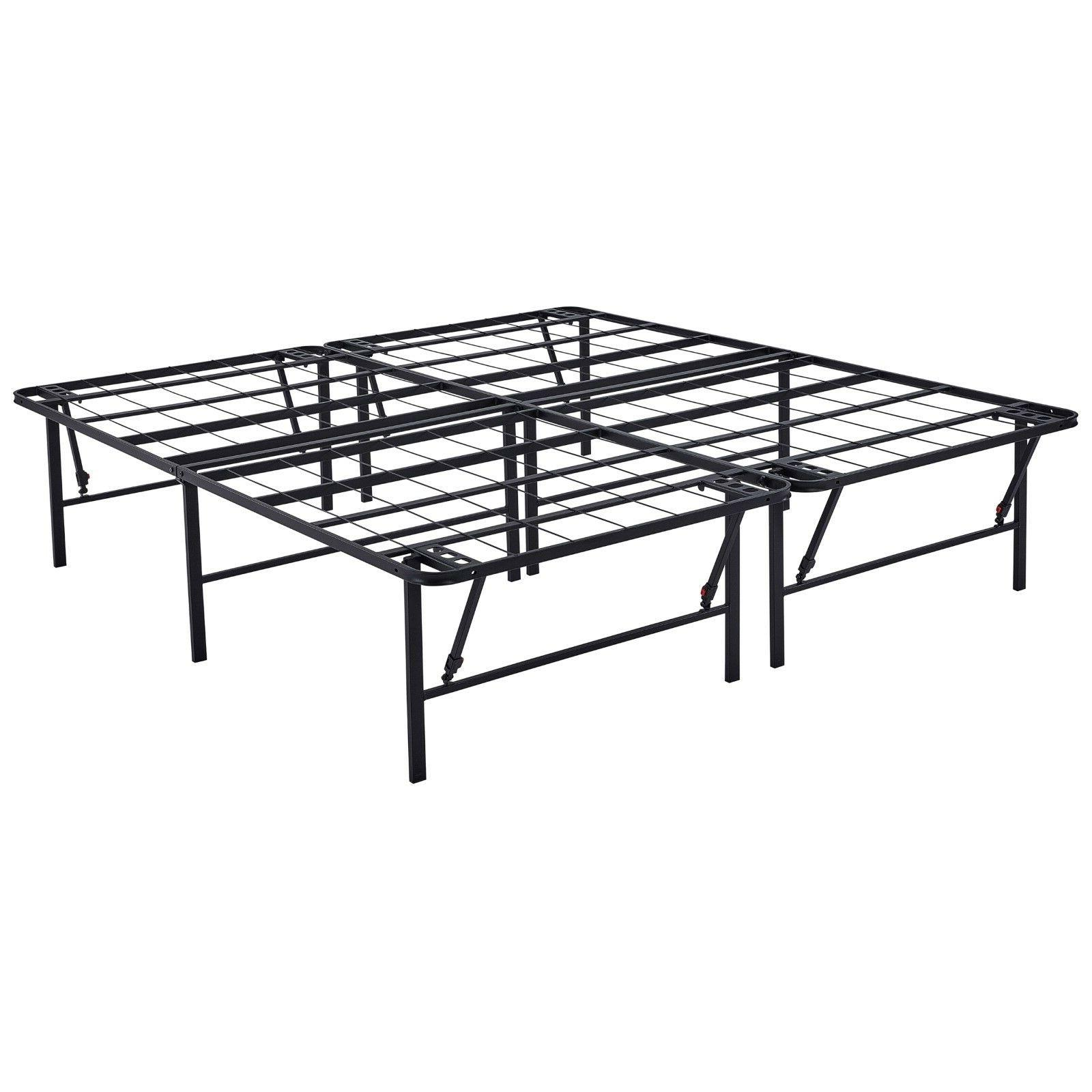 Platform King Size Bed Frame 18 Inch Foundation Metal Steel