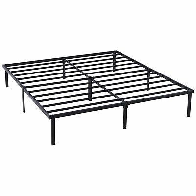 Platform Queen Size Bed Frame 18 Inch Mattress Foundation He